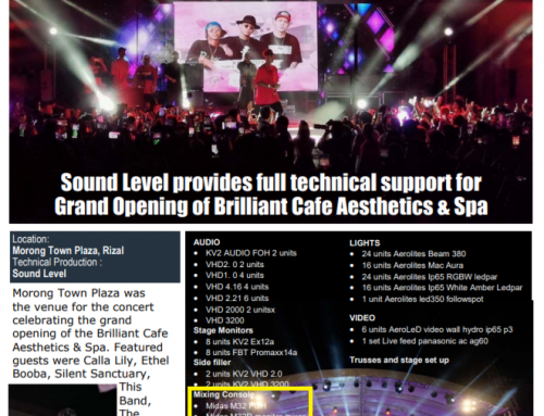 Sound Level at the Grand Opening of Brilliant Cafe Aesthetics and Spa in Morong Town Plaza, Rizal