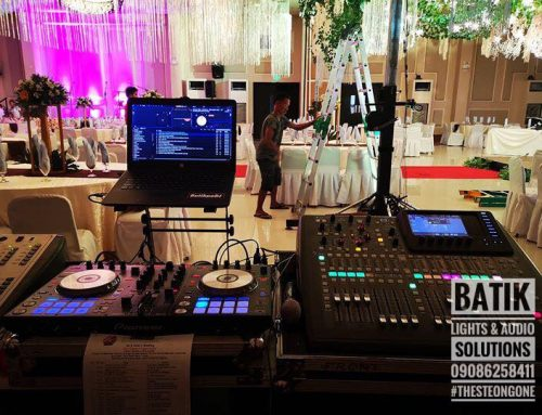 Batik Lights and Audio Solutions using Midas M32R at the La Piazza Hotel event.