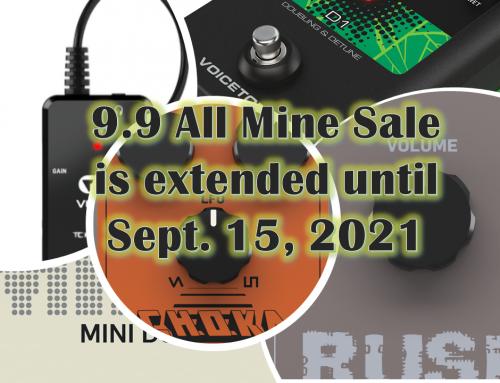 9.9 All Mine Sale is extended until September 15, 2021!
